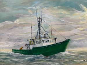 Painting of The Holly & Alexander Fishing Vessel