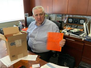 Bill Palombo pictured in his Rhode Island office